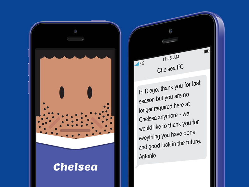 Diego Costa Chelsea text