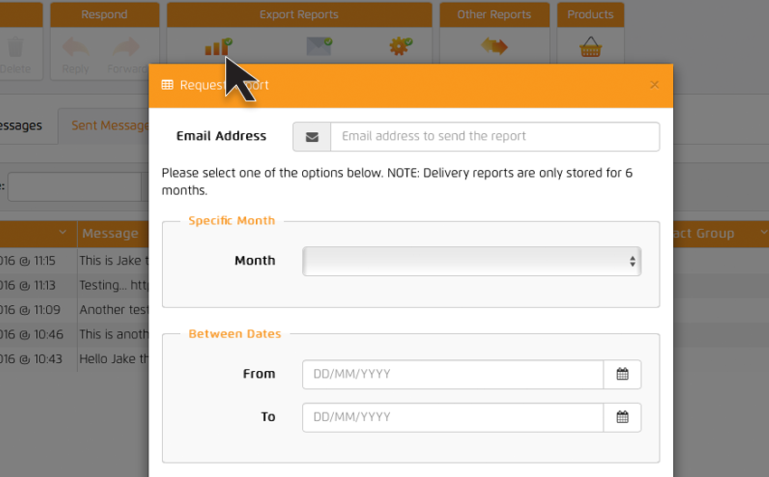 Exporting delivery reports