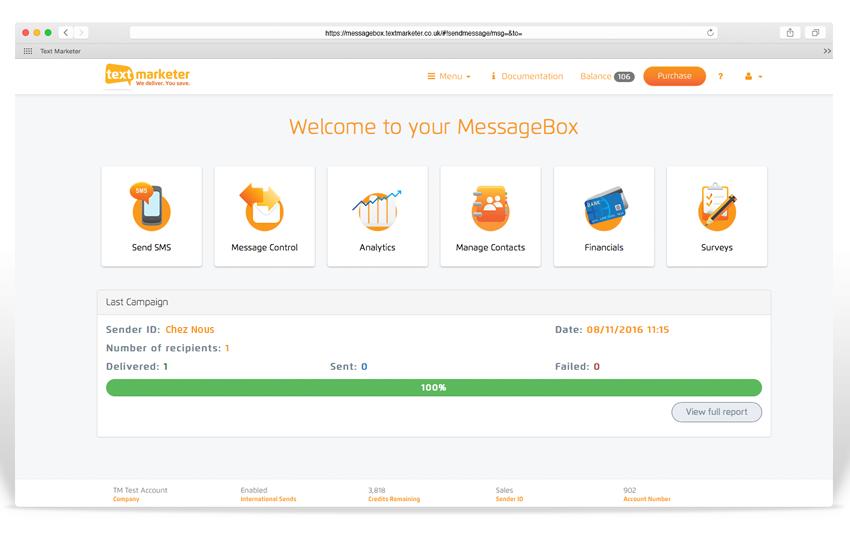 Online mobile marketing platform