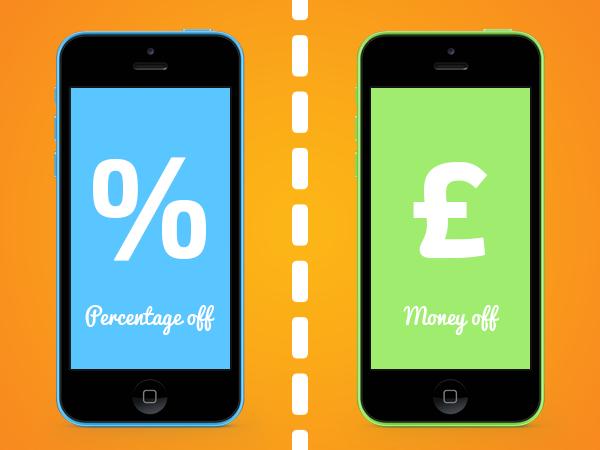 Digital dilemmas - money off or percentage deals