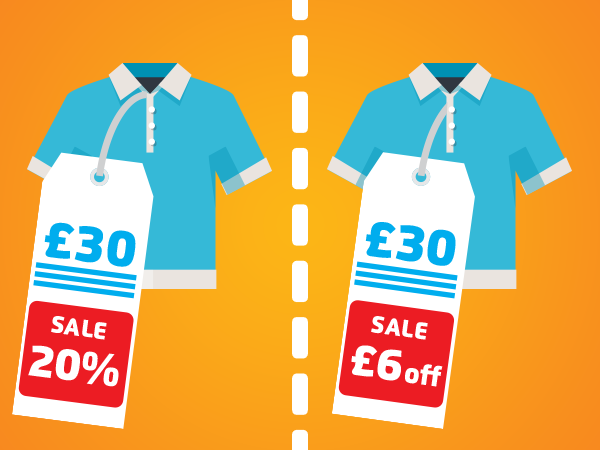 Digital dilemmas - money off or percentage discounts