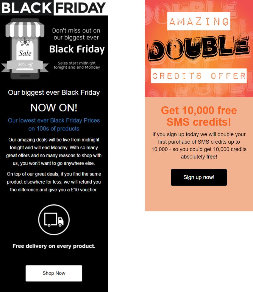 Promote a sale landing page