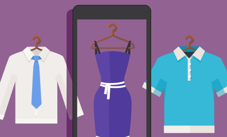 Illustration of retail clothing items
