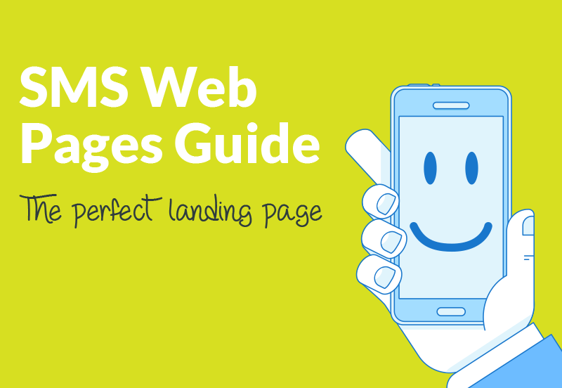SMS Web Page - perfect landing page