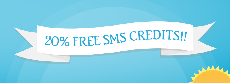 Free SMS credits mobile marketing