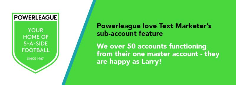 Mobile marketing sub-accounts