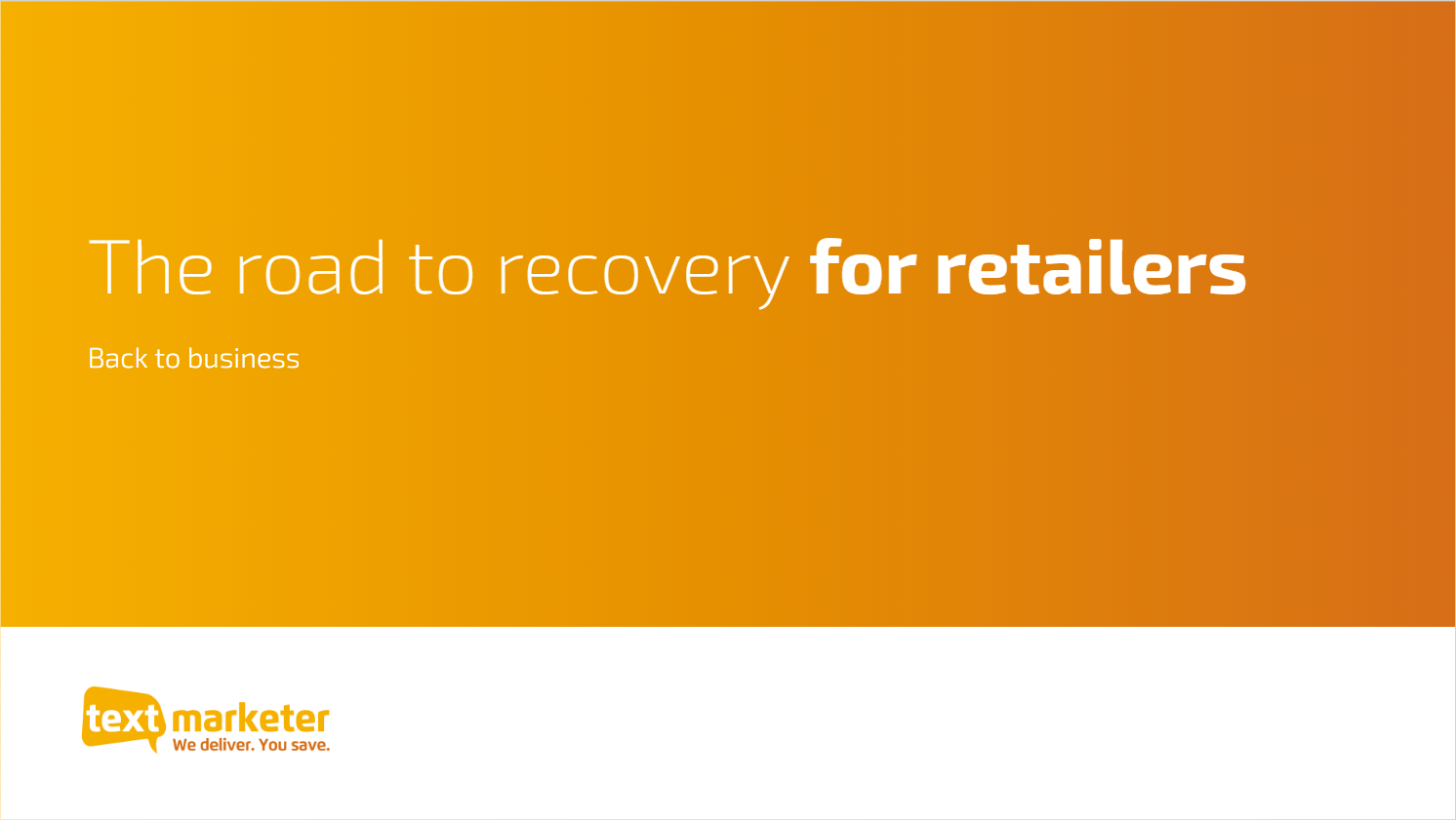 The road to recovery for retailers