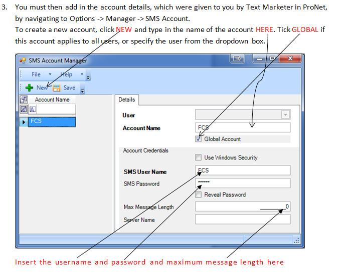 RDB SMS integration