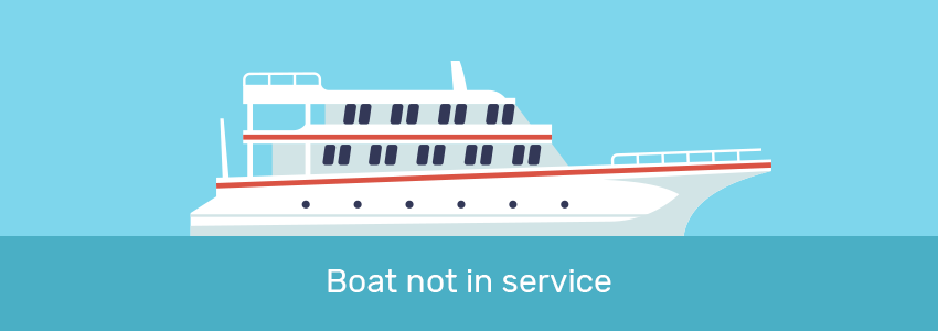Boat not in service