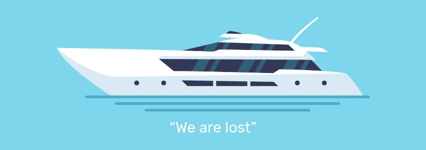 Boat lost at sea