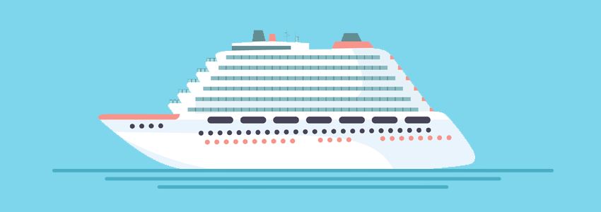 Big fancy ship on the sea