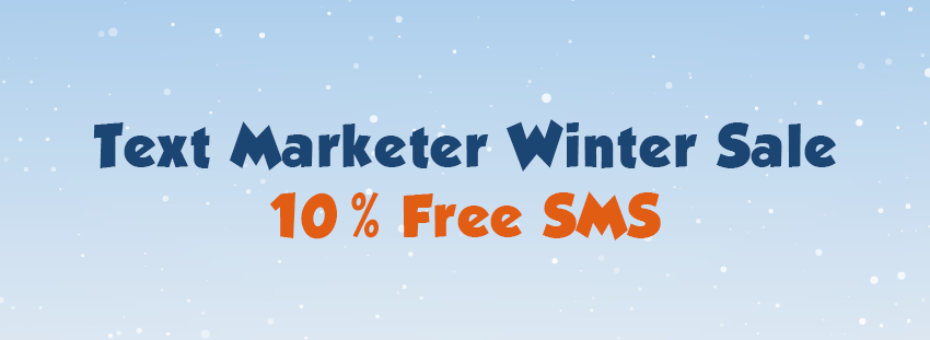 Winter Sale 10% Free SMS credits