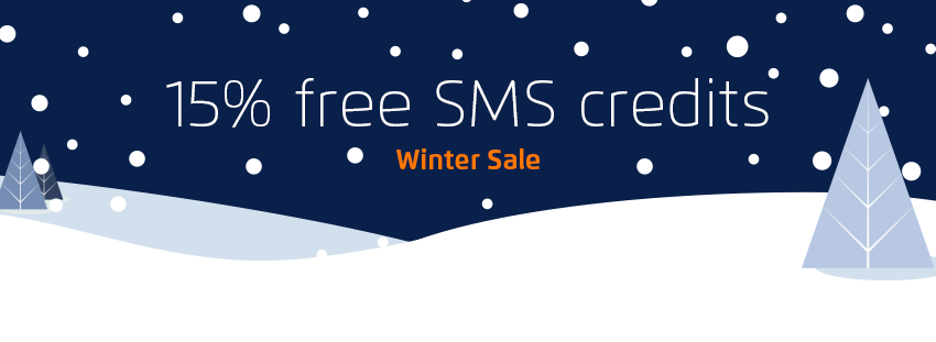 15% free SMS credits - Winter Sale