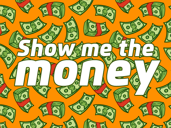 Show me the money graphic
