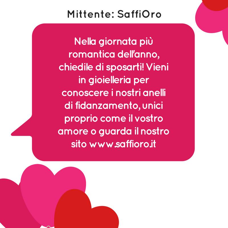 Campagna SMS di San Valentino - Esempio Gioielleria
