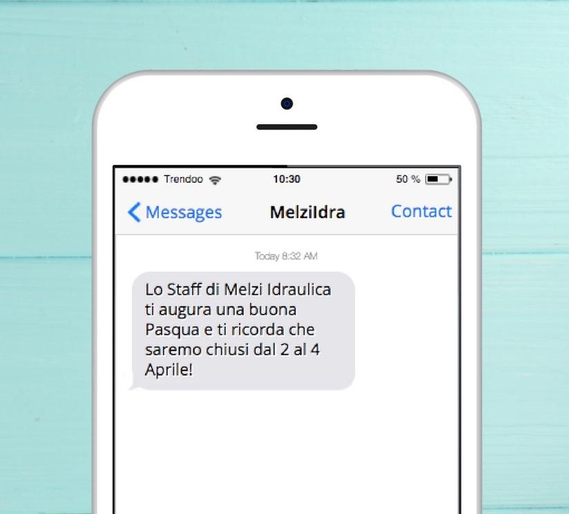 Marketing per Pasqua - Esempi SMS - Melzi