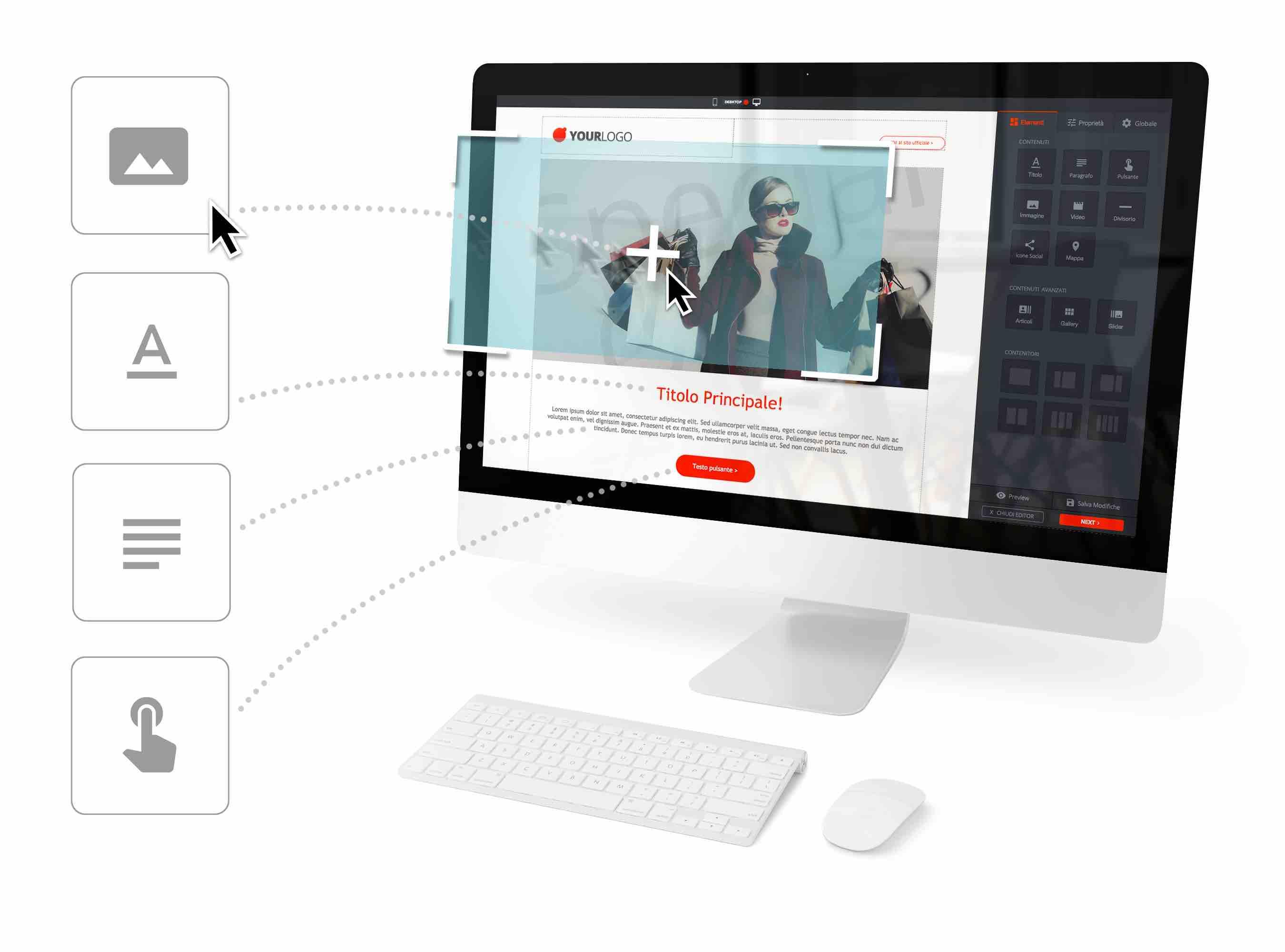 Nuove Landing Page Trendoo - Editor Drag & Drop