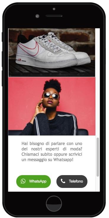 Nuovi elementi landing page - Bottone telefono whatsapp