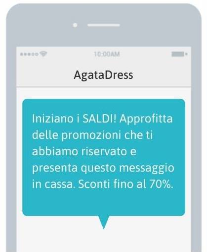 SMS per i Saldi - esempio