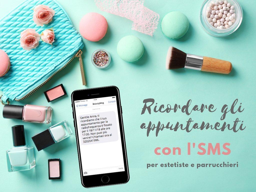 SMS per ricordare appuntamenti - centri estetici e parrucchieri