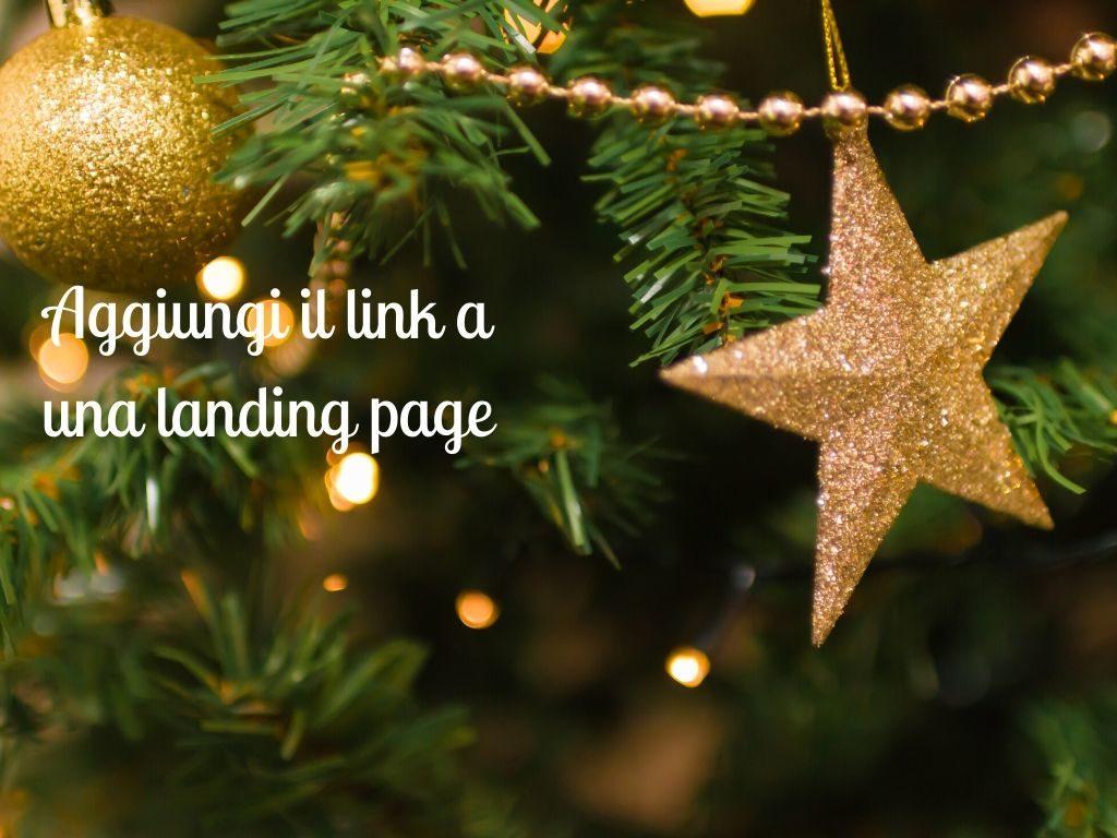 aggiungi il link a una landing page