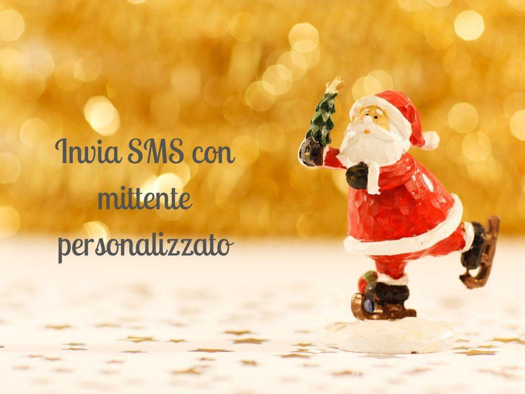 strategie SMS natalizie con SMS con mittente personalizzato