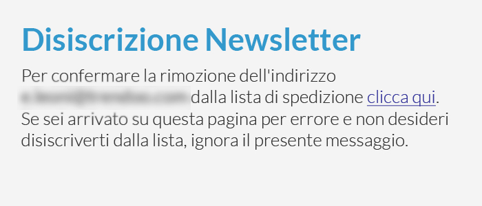link disiscrizione newsletter
