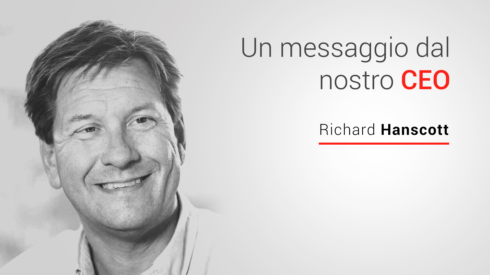 messaggio dal nostro CEO