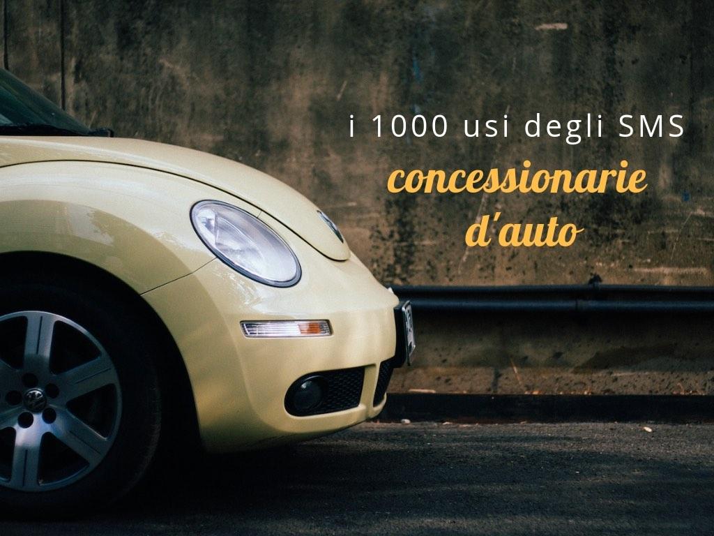 Mille usi degli SMS concessionarie d'auto
