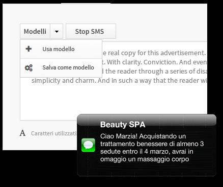 modeli di testo per invio sms