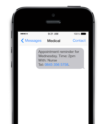 SMS reminders for payments and notifications