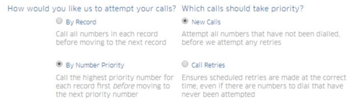 Calling Priorities