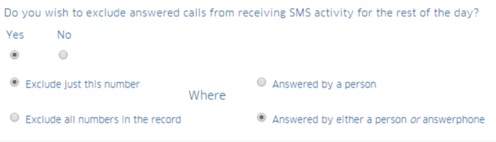 Exclude Calls