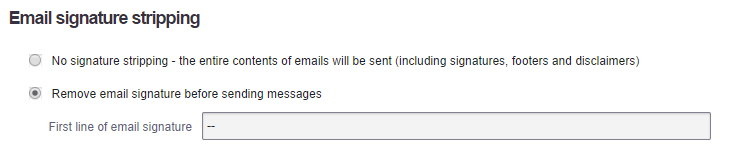 email signature stripping