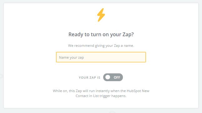activar zap en Zapier